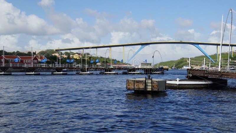 Download Reina Emma Pontoon Bridge En Willemstad, Curaçao Foto editorial - Imagen de cityscape, atracción: 64209201