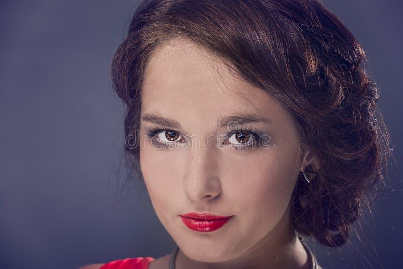Reina en rojo foto de archivo libre de regalías