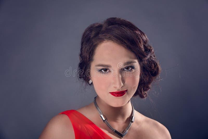 Reina en rojo imagenes de archivo