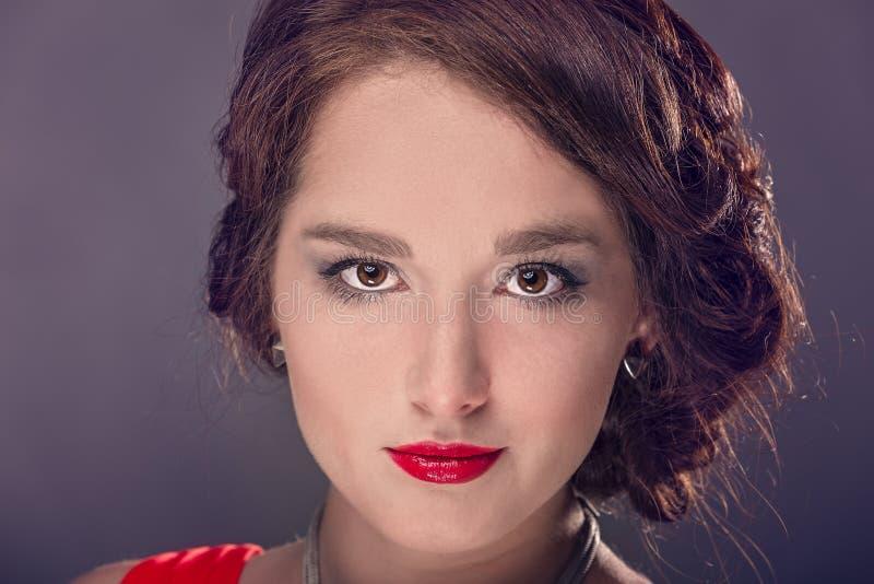 Reina en rojo fotos de archivo libres de regalías