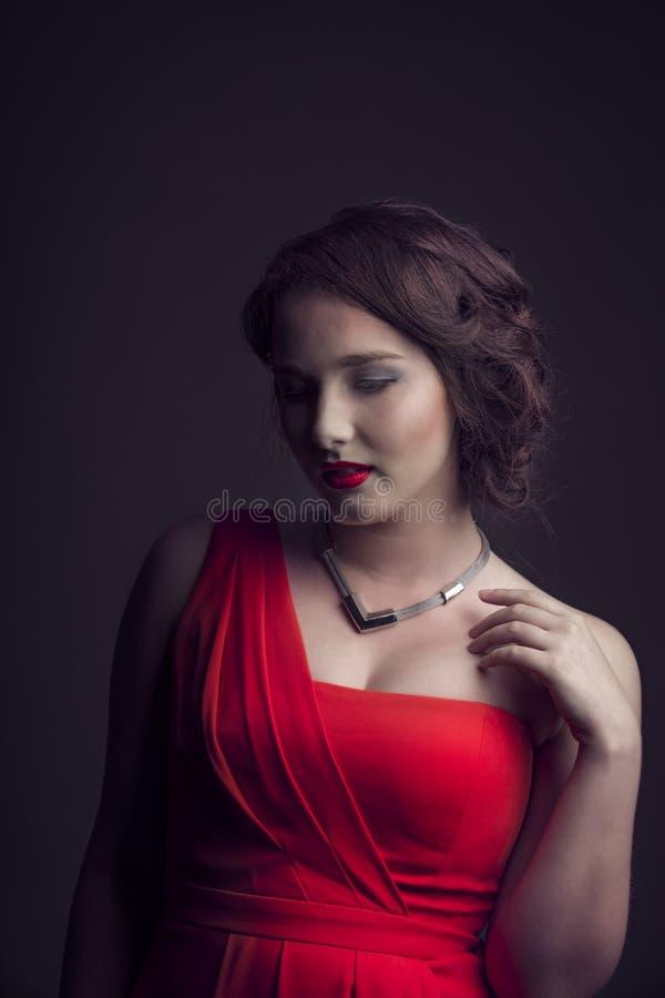 Reina en rojo imagen de archivo
