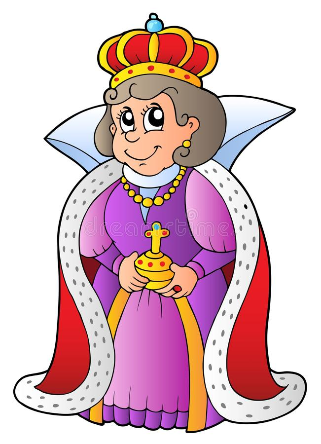 Reina feliz libre illustration