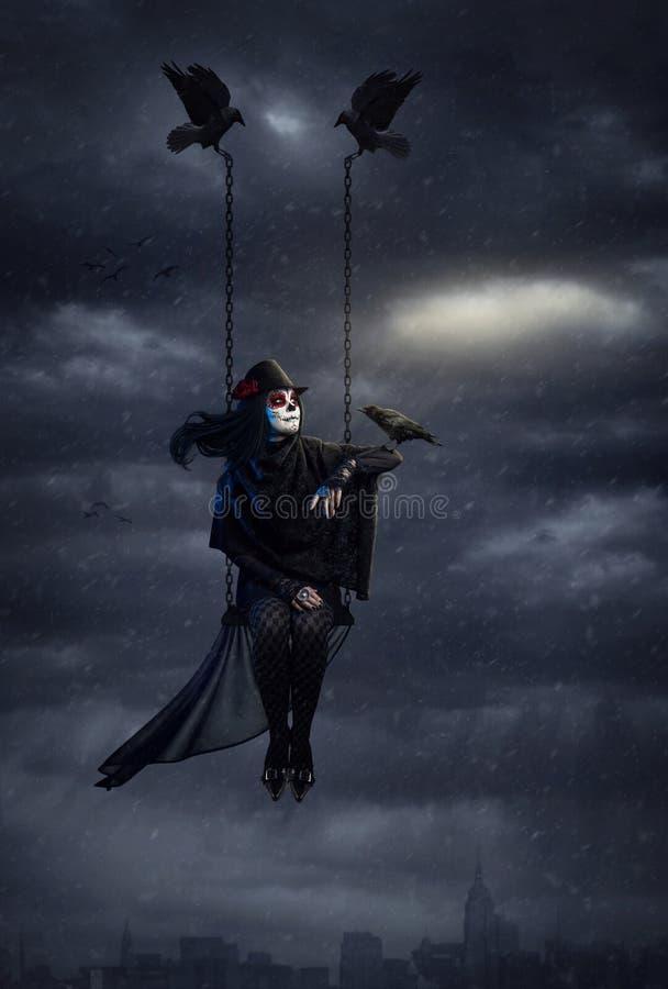 Reina oscura del cuervo imágenes de archivo libres de regalías