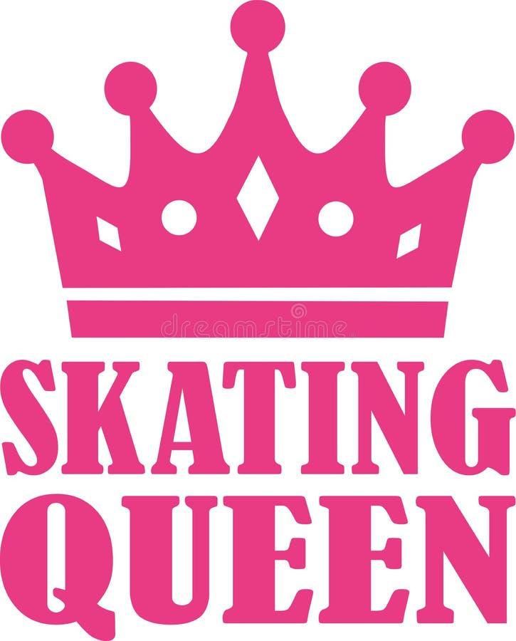 Reina patinadora ilustración del vector