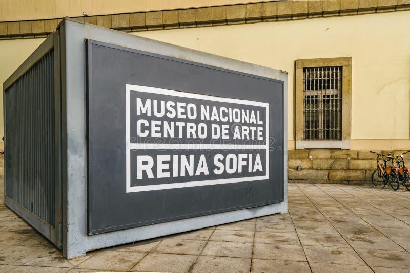 Reina Sofia Museum Exterior View, Madrid, Spanje stock foto's
