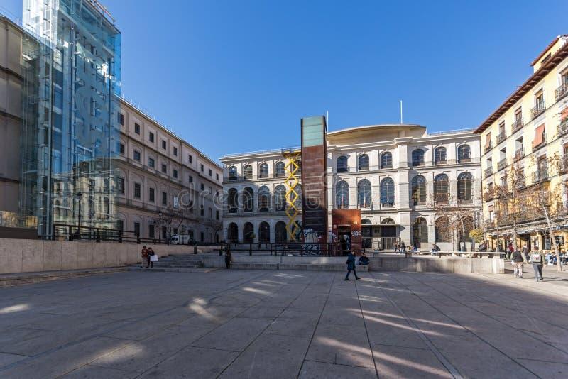 Reina Sofia National Art Center Museum Museo Nacional Centro de Arte Reina SofÃa i stad av mor arkivbilder