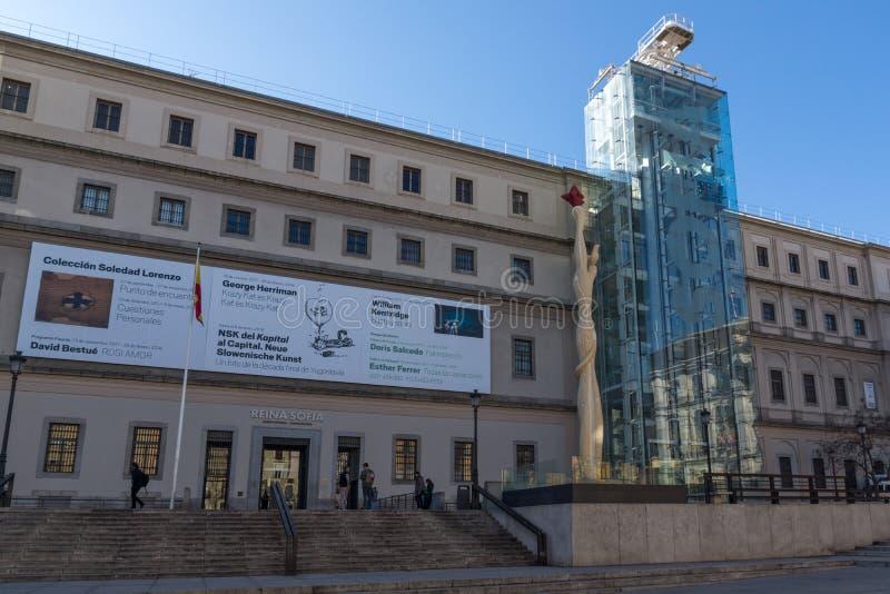 Reina Sofia National Art Center Museum Museo Nacional Centro de Arte Reina Sofía in City of Ma. MADRID, SPAIN - JANUARY 22, 2018: Reina Sofia National Art royalty free stock image