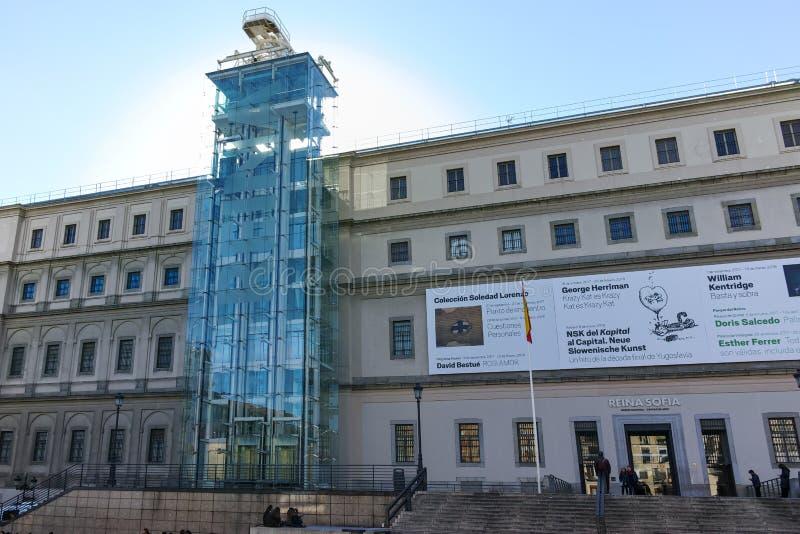 Reina Sofia National Art Center Museum in Stad van Madrid royalty-vrije stock foto