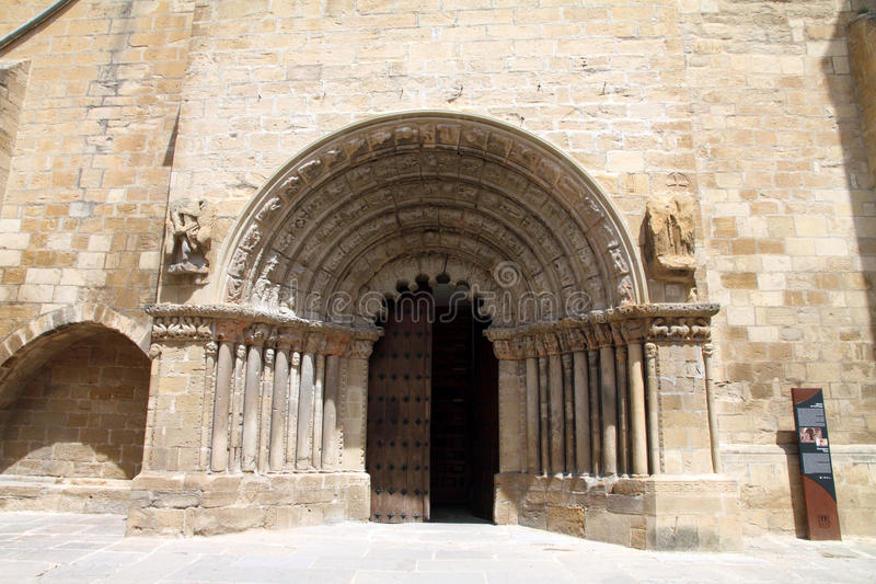 Reina van Puentela, Navarre, Spanje stock foto's