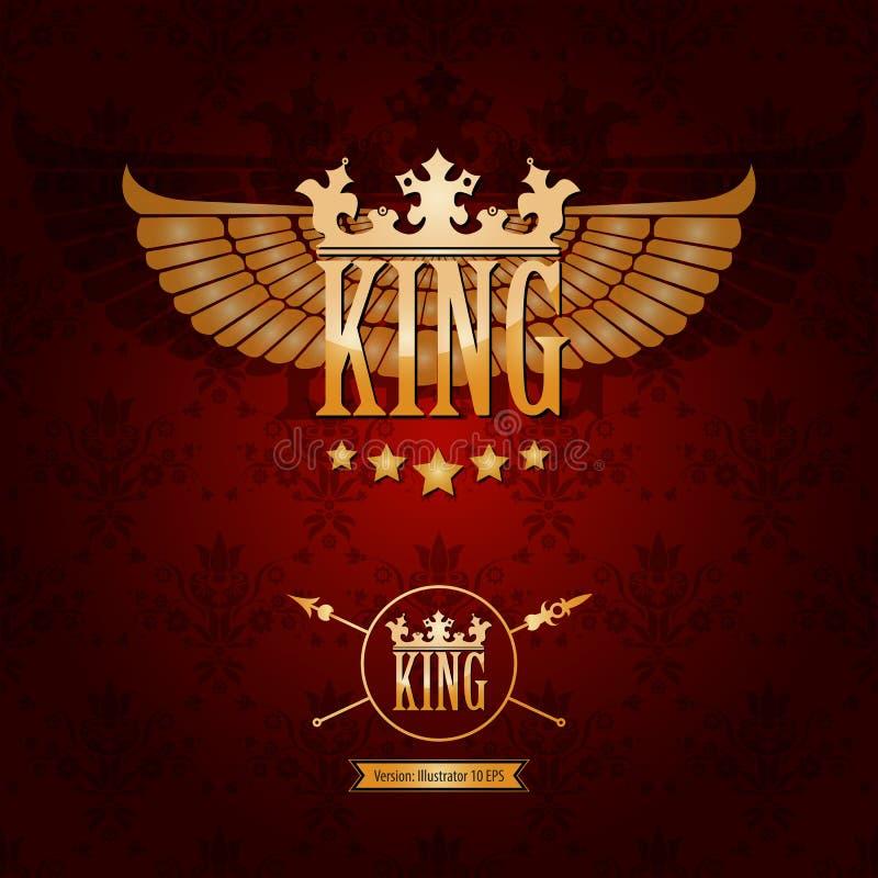Reina y corona de oro del rey libre illustration