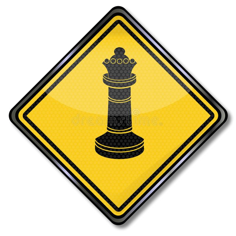Reina y grandeza del ajedrez stock de ilustración