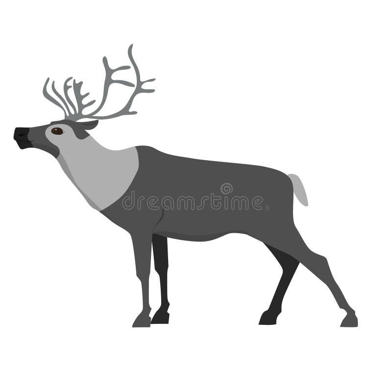 reindeer Изображение изолированное на белой предпосылке o иллюстрация вектора