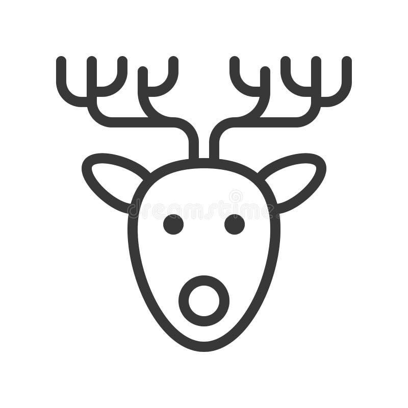reindeer милое рождество и зима связали набор, соответствующий для пользы бесплатная иллюстрация