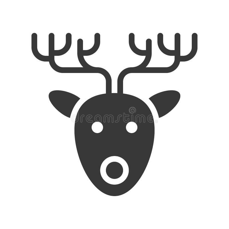 reindeer милое рождество и зима связали набор, твердый дизайн, sui бесплатная иллюстрация