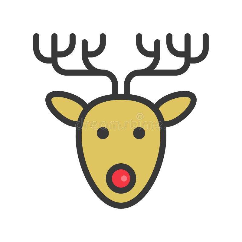 reindeer милое рождество и зима связали набор, editable план бесплатная иллюстрация