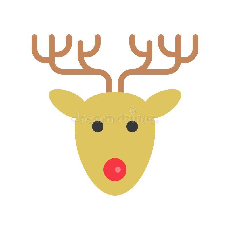 reindeer милый набор рождества и зимы родственный, плоский костюм дизайна иллюстрация штока