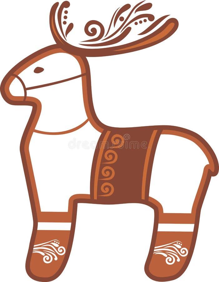 reindeer Пряник рождества иллюстрация вектора
