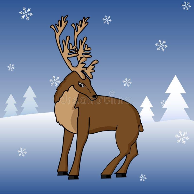 Download Reindeer stock illustration. Image of holiday, peer, winter - 12108605