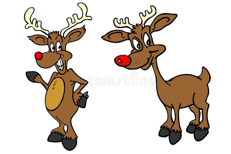 Reindeer. Cartoon graphic depicting funny reindeer royalty free illustration