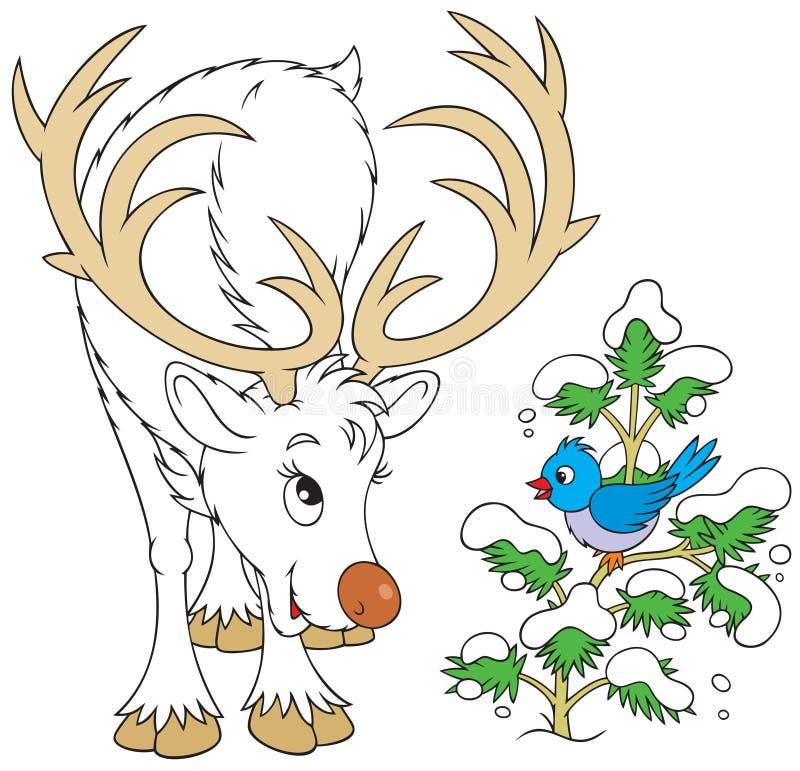 Free Reindeer And Bird Royalty Free Stock Photos - 10744208