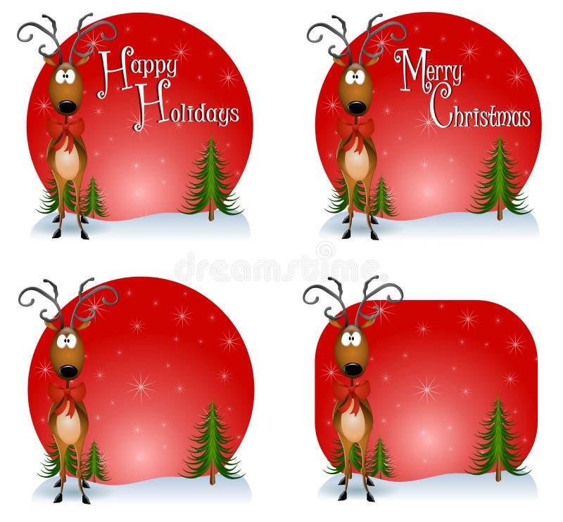 Reindeer Backgrounds vector illustration