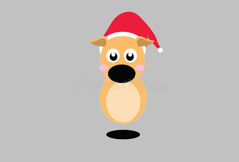 Reindeer cartoon cute x`mas Christmas royalty free stock image