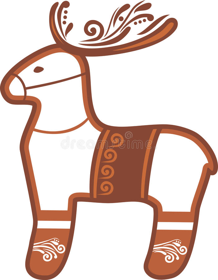 Reindeer. Christmas gingerbread royalty free stock photo