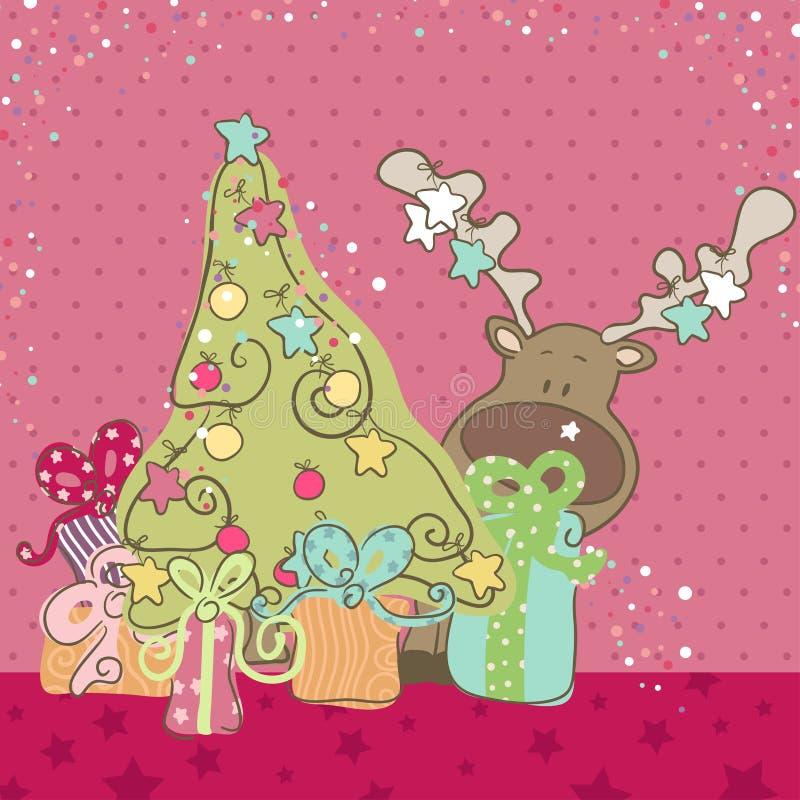 Download Reindeer And Christmas Tree Stock Vector - Image: 27851190