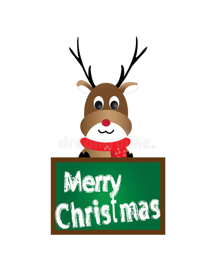 Reindeer cute christmas character royalty free stock photos