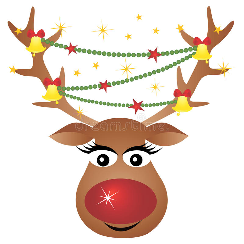 Download Reindeer with decoration stock illustration. Image of animal - 16723711