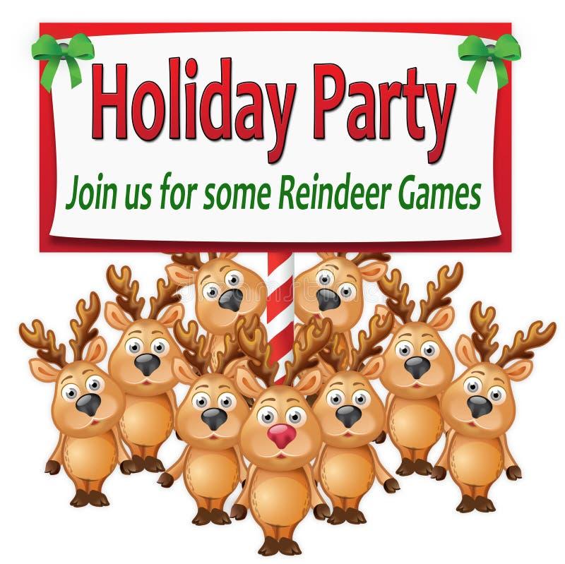 Download Reindeer Games stock illustration. Image of antlers, holiday - 16432327