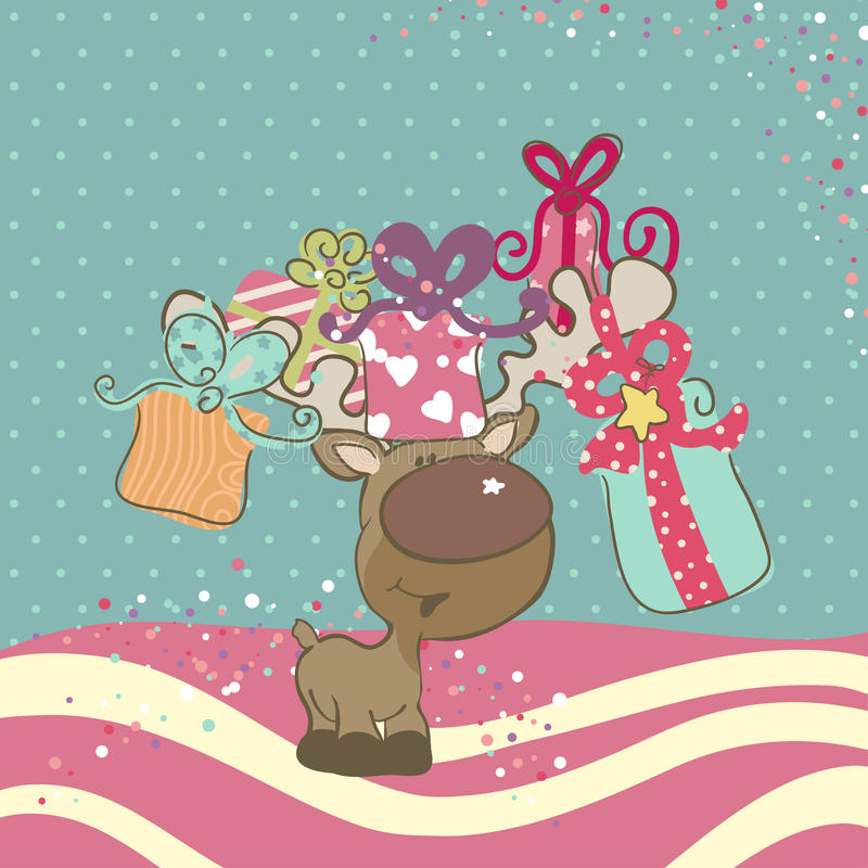 Download Reindeer with Gifts stock vector. Illustration of magic - 27851172