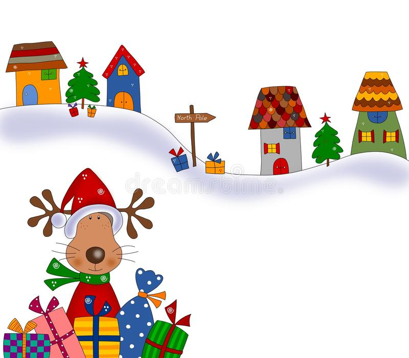 Download Reindeer With Gifts. Cartoon Characters. Stock Illustration - Image: 27826798