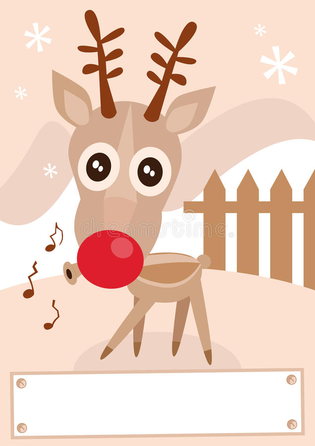 Reindeer holiday season vector illustration.
