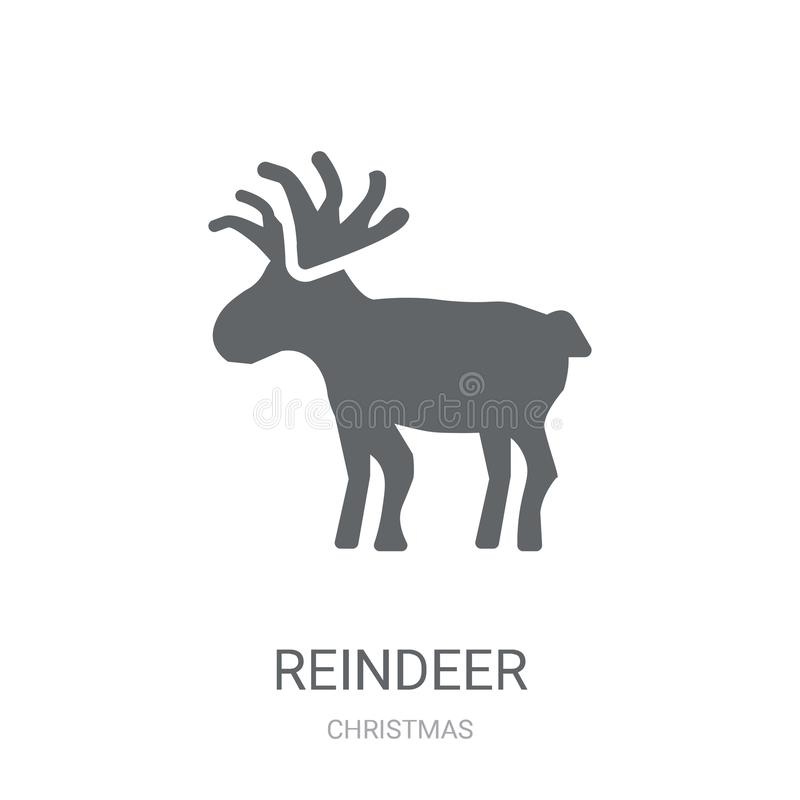 Reindeer icon. Trendy Reindeer logo concept on white background. From Christmas collection. Suitable for use on web apps, mobile apps and print media stock illustration