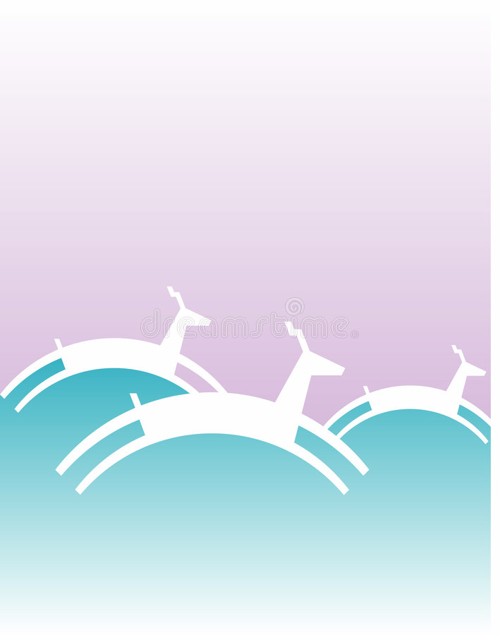 Download Reindeer illustration stock vector. Illustration of white - 5358688