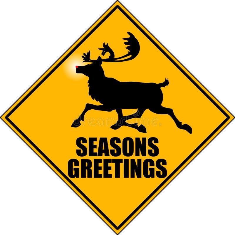 Reindeer_x-ing_04. Graphic depicting a reindeer crossing road sign vector illustration