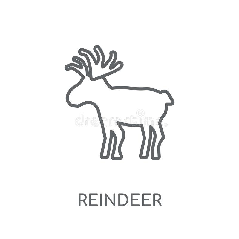 Reindeer linear icon. Modern outline Reindeer logo concept on wh. Ite background from Christmas collection. Suitable for use on web apps, mobile apps and print royalty free illustration