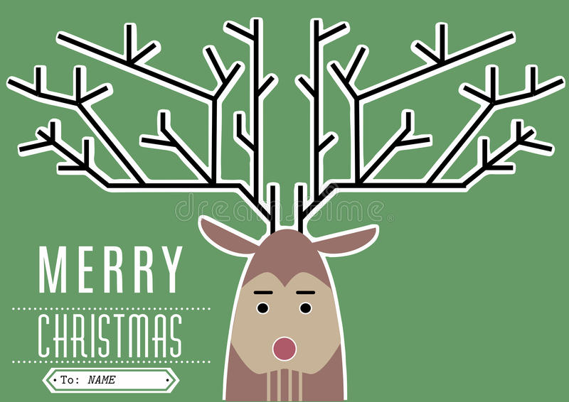 Reindeer Merry Christmas royalty free stock image