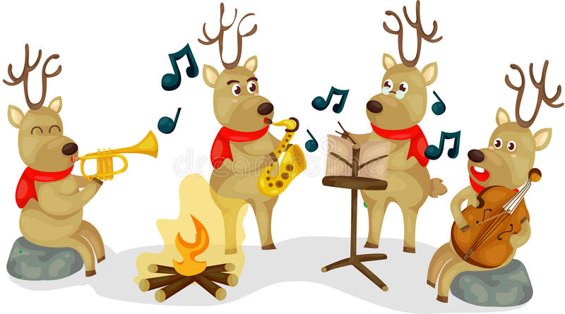 Download Reindeer musical stock vector. Image of holiday, chorus - 28149293