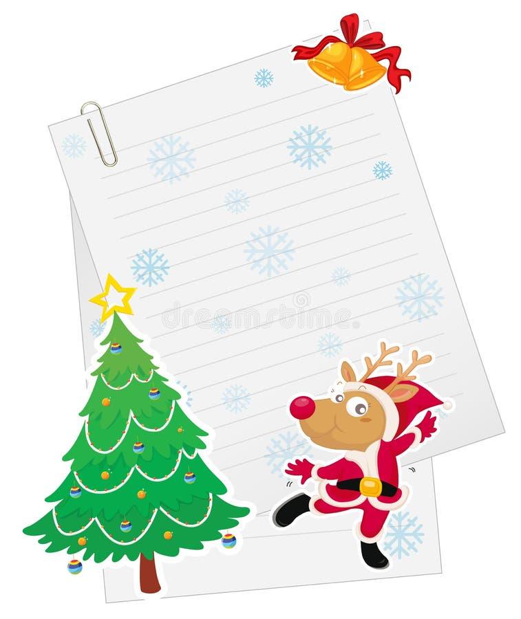 Download Reindeer and paper stock vector. Image of cartoon, blank - 26941960