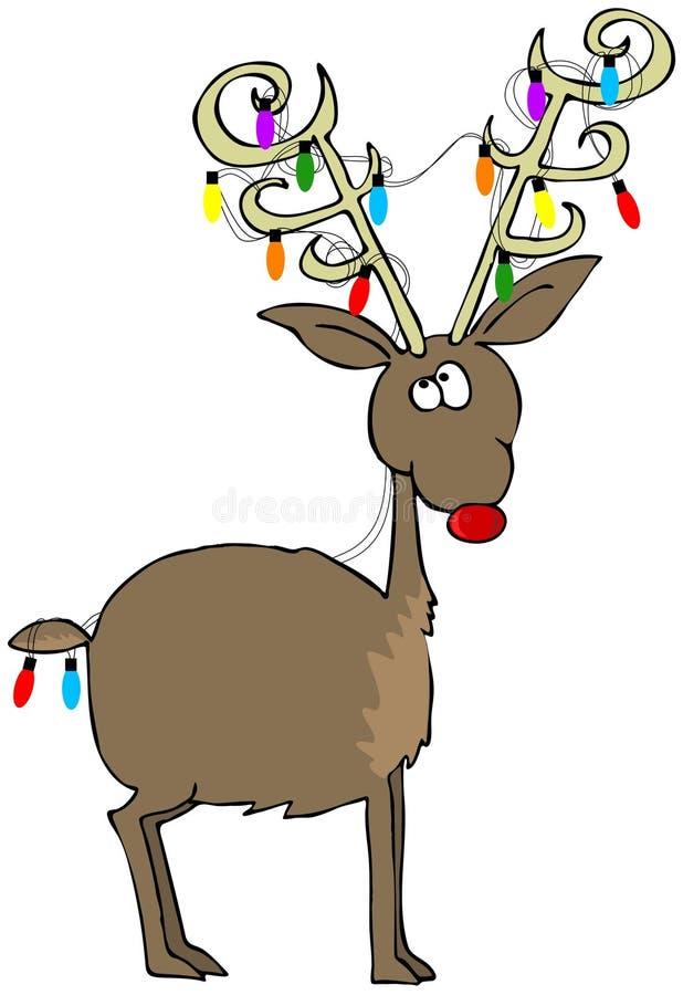 reindeer rudolf απεικόνιση αποθεμάτων