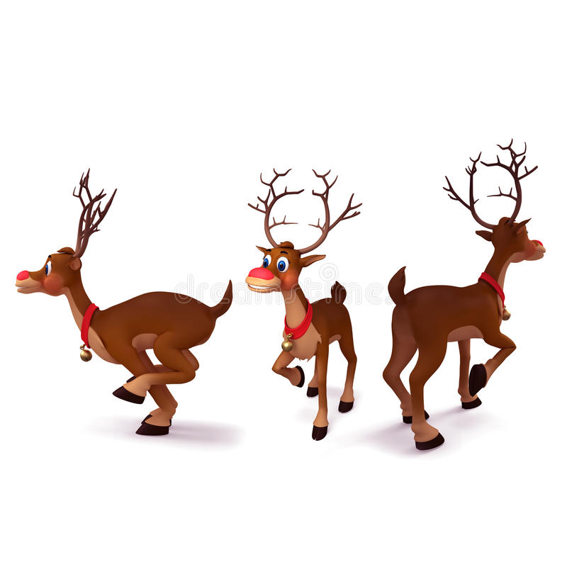 Download Reindeer is running stock illustration. Image of illustration - 26444470