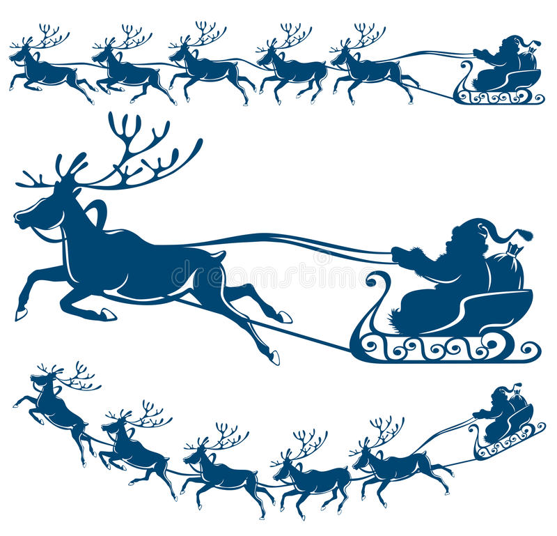 Download Reindeer And Santa Claus. Stock Images - Image: 21497344