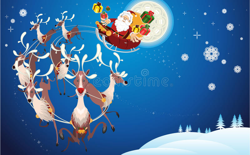 Download Reindeer And Santa Claus Christmas Stock Vector - Image: 22208955