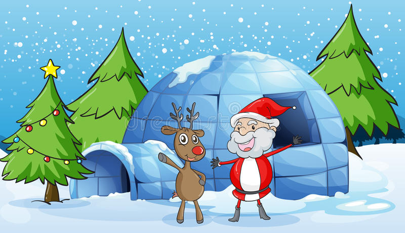 Download A reindeer and santaclause stock vector. Illustration of nature - 33098880