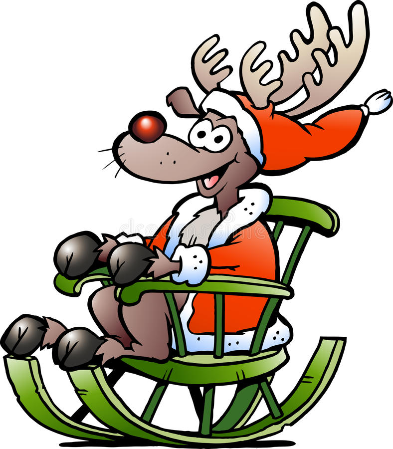 Download Reindeer Sitting In Rocking Chair Stock Vector - Image: 22079983