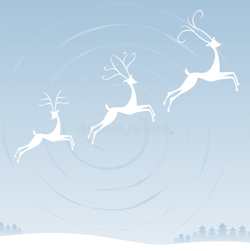Download Reindeer in the Sky stock illustration. Image of mammal - 818453