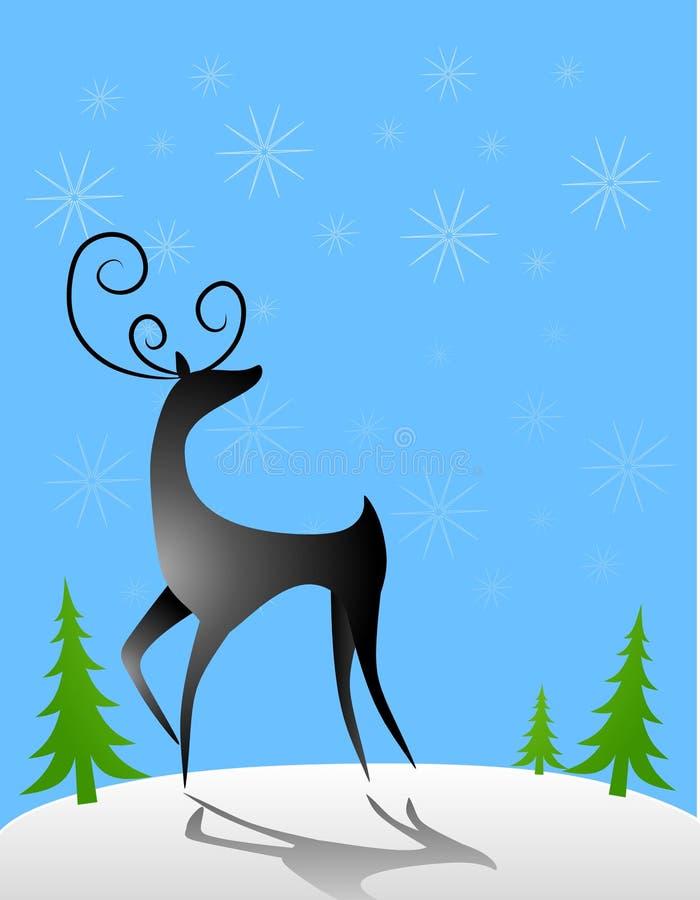 Download Reindeer in The Snow stock illustration. Image of deer - 6712452