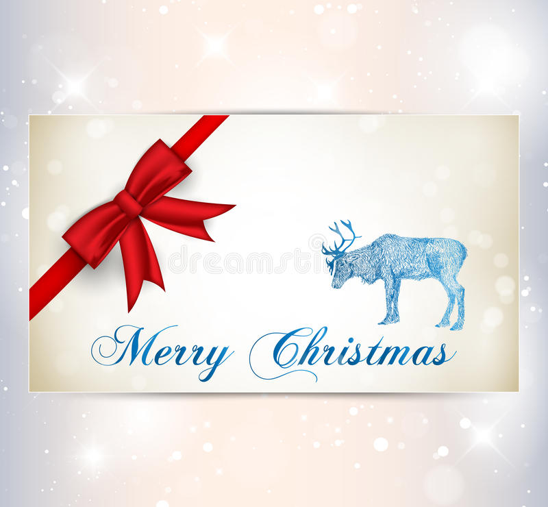 Reindeer With Snowflakes Stock Photos